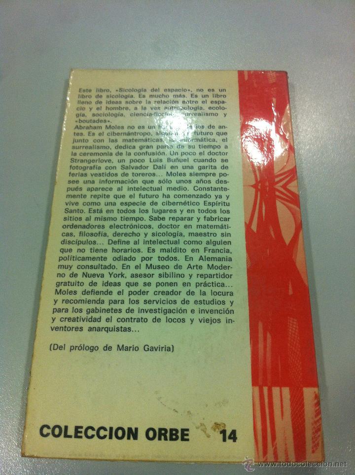 Libros de segunda mano: PSICOLOGIA DEL ESPACIO - ABRAHAN A. MOLES Y ELISABETH ROMHER - ED. RICARDO AGUILERA - MADRID - 1972 - Foto 2 - 43505907