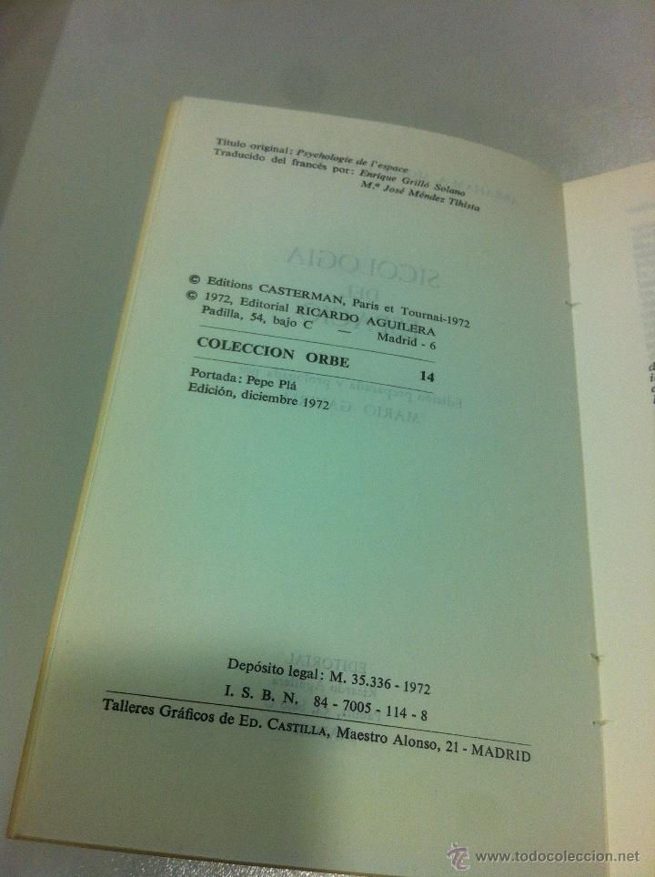 Libros de segunda mano: PSICOLOGIA DEL ESPACIO - ABRAHAN A. MOLES Y ELISABETH ROMHER - ED. RICARDO AGUILERA - MADRID - 1972 - Foto 4 - 43505907