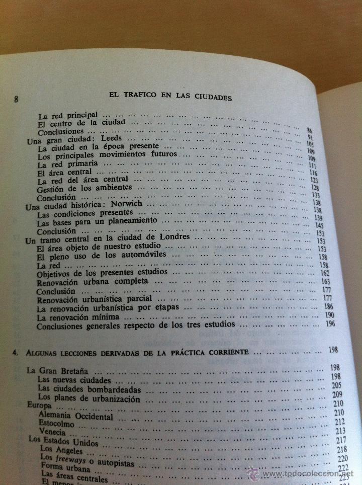 Libros de segunda mano: EL TRÁFICO EN LAS CIUDADES. COLIN D.BUCHANAN. EDITORIAL TECNOS. COLECCIÓN CIENCIAS SOCIALES. - Foto 10 - 53617329