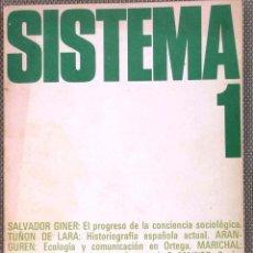 Libros de segunda mano: SISTEMA - REVISTA DE CIENCIAS SOCIALES, Nº 1. Lote 44241032