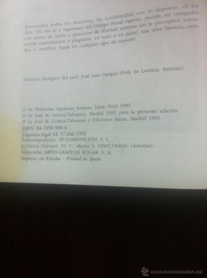 Libros de segunda mano: LA CIVILIZACION INCA - ECONOMIA, SOCIEDAD Y ESTADO EN EL UMBRAL DE LA CONQUISTA HISPANA - WALDEMAR E - Foto 5 - 44395462