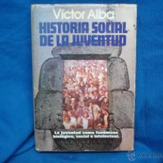 Libros de segunda mano: HISTORIA SOCIAL DE LA JUVENTUD - VICTOR ALBA - PLAZA & JANES 1ª EDICIÓN 1979. Lote 45073281
