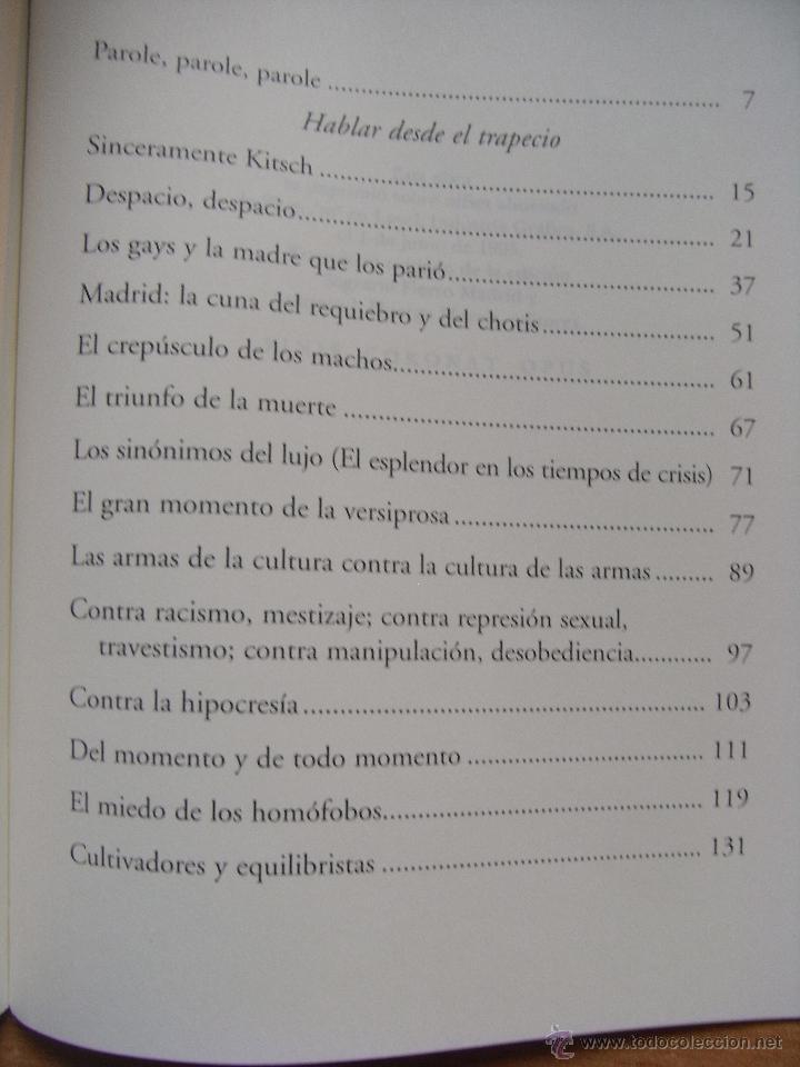 Libros de segunda mano: HABLAR DESDE EL TRAPECIO - LEOPOLDO LEOPOLDO - Foto 3 - 45471164