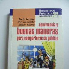 Libros de segunda mano: LA CONVIVENCIA Y LAS BUENAS MANERAS PARA COMPORTARSE EN PUBLICO (JOSEFINA FONT ). Lote 46085604
