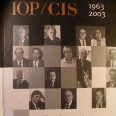 Libros de segunda mano: IOP/CIS 1963-2003 - ENTREVISTAS A SUS DIRECTORES. Lote 46109485