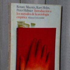Libros de segunda mano: INTRODUCCIÓN A LOS MÉTODOS DE LA SOCIOLOGÍA EMPÍRICA. Lote 46141080