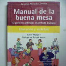 Libros de segunda mano: MANUAL DE LA BUENA MESA, EL PERFECTO ANFITRIÓN, EL PERFECTO INVITADO. Lote 46706132
