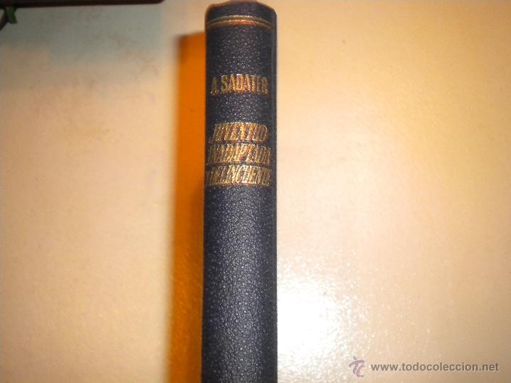 JUVENTUD INADAPTADA Y DELINCUENTE A.SABATER (Libros de Segunda Mano - Pensamiento - Sociología)