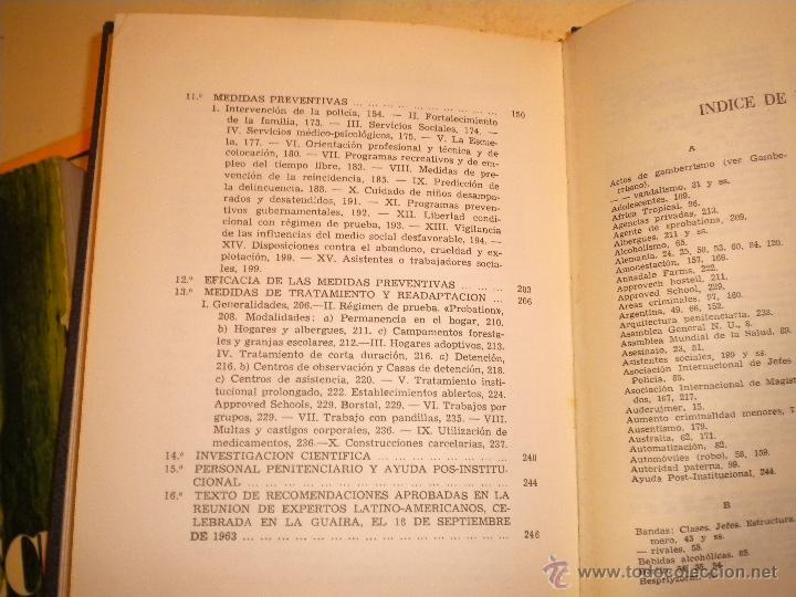 Libros de segunda mano: JUVENTUD INADAPTADA Y DELINCUENTE A.Sabater - Foto 4 - 47598857