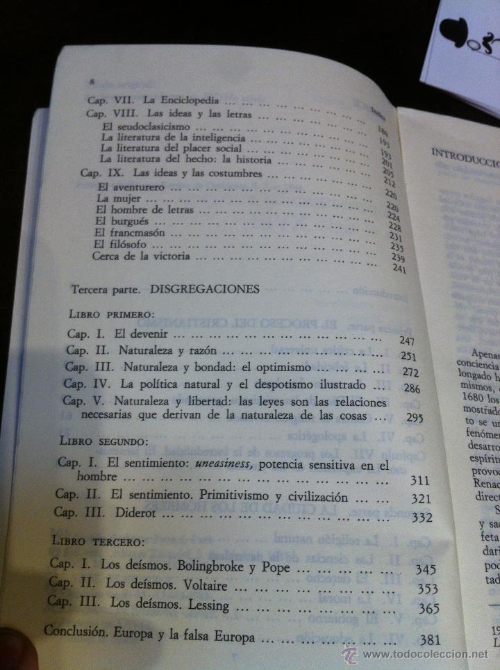 Libros de segunda mano: EL PENSAMIENTO EUROPEO EN EL SIGLO XVIII - PAUL HAZARD - ALIANZA UNIVERSIDAD - MADRID - 1985 - - Foto 7 - 43721269