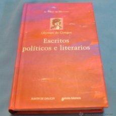 Libros de segunda mano: ESCRITOS POLITICOS E LITERARIOS, OLYMPE DE GOUGES. Lote 49101463