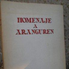 Libros de segunda mano: HOMENAJE A ARANGUREN - VV.AA - EDI REVISTA DE OCCIDENTE 1972, 377PAG, 21.5CM, EXCELENTE. Lote 50106975