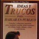 Libros de segunda mano: IDEAS Y TRUCOS PARA HABLAR EN PUBLICO - J.BLASCHKE Y P. PALAO PONS - EDITORIAL VICTOR --(REF M1 E1). Lote 50159697