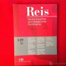 Libros de segunda mano: REÍS, REVISTA ESPAÑOLA DE INVESTIGACIONES SOCIOLÓGICAS, NÚM. 149, ENERO - MARZO 2015, CIS. Lote 50245683