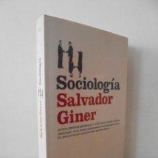 Libros de segunda mano: SOCIOLOGIA. SALVADOR GINER. ED, PENINSULA.. Lote 50600263