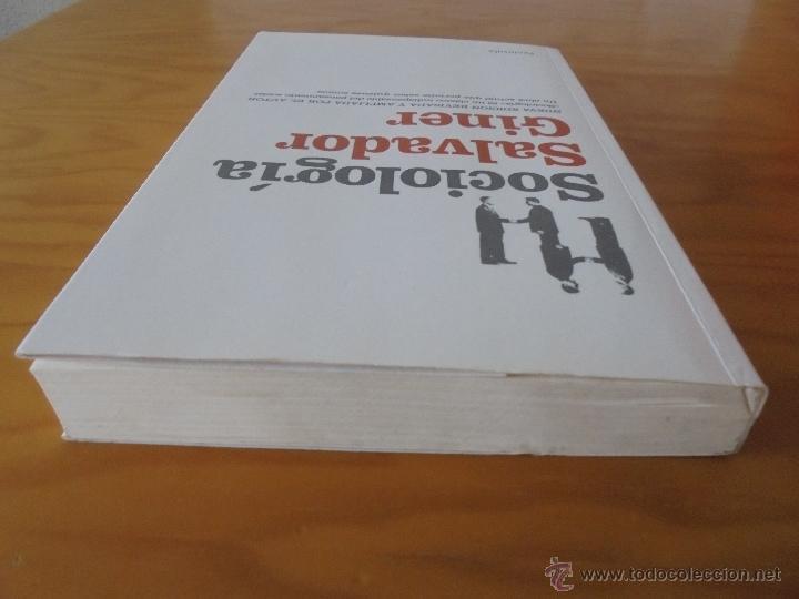 Libros de segunda mano: SOCIOLOGIA. SALVADOR GINER. ED, PENINSULA. - Foto 6 - 50600263
