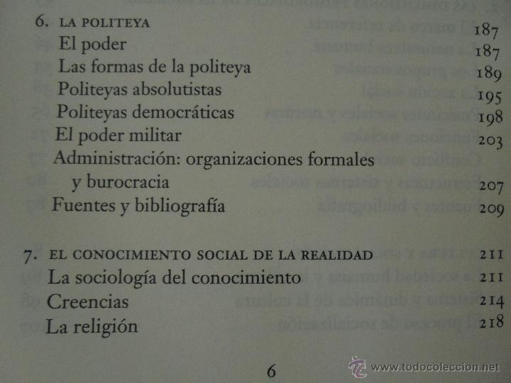 Libros de segunda mano: SOCIOLOGIA. SALVADOR GINER. ED, PENINSULA. - Foto 11 - 50600263