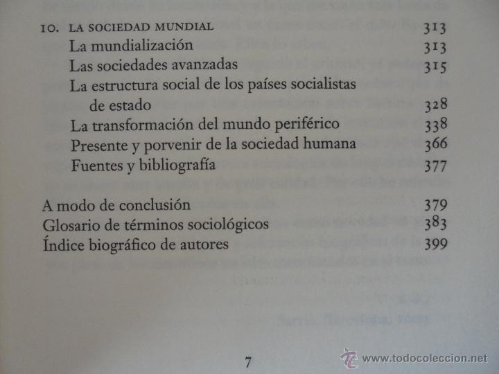 Libros de segunda mano: SOCIOLOGIA. SALVADOR GINER. ED, PENINSULA. - Foto 13 - 50600263