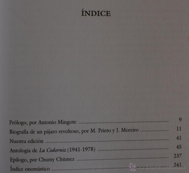 Libros de segunda mano: LA CODORNIZ LA REVISTA MAS AUDAZ PARA EL LECTOR MAS INTELIGENTE ANTOLOGIA 1941-1978 - Foto 7 - 53537494