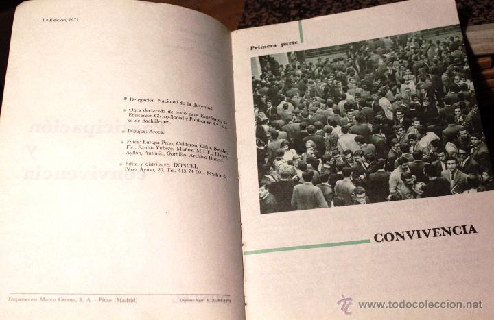 Libros de segunda mano: LIBRO *PARTICIPACIÓN Y CONVIVENCIA* 1ª EDICIÓN, AÑO 1971. - Foto 2 - 53701310