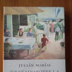 Libros de segunda mano: JULIAN MARIAS. TRATADO SOBRE LA CONVIVENCIA. CONCORDIA SIN ACUERDO.. Lote 54175998