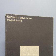Libros de segunda mano: NEGATIONS. HERBERT MARCUSE. ED. PENGUIN BOOKS. Lote 54571219