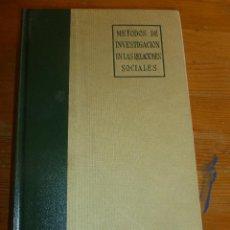 Libros de segunda mano: METODOS DE INVESTIGACION EN LAS RELACIONES SOCIALES.SELLTIZ, WRIGHTSMAN, COOK. RIALP 1980 823PP. Lote 54665807