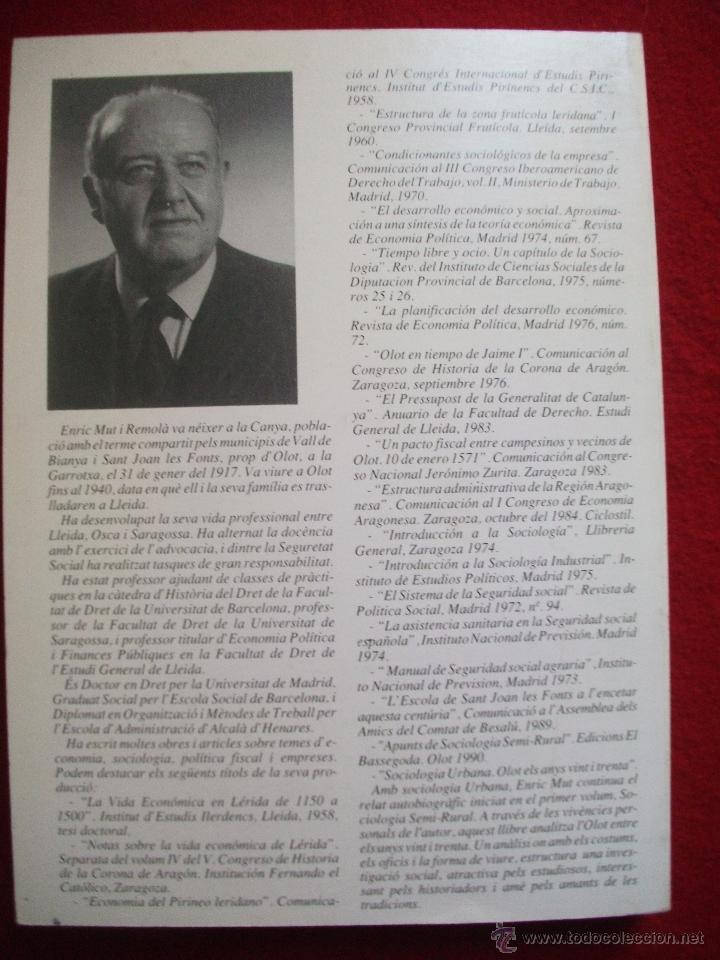Libros de segunda mano: SOCIOLOGIA URBANA OLOT ELS ANYS VINT I TRENTA DE ENRIC MUT I REMOLA 1991 - Foto 4 - 54745144