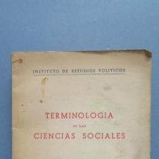Libros de segunda mano: TERMINOLOGIA DE LAS CIENCIAS SOCIALES. Lote 54906233