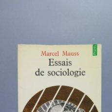 Libros de segunda mano: ESSAIS DE SOCIOLOGIE. MARCEL MAUSS. Lote 54951807