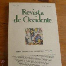 Libros de segunda mano: REVISTA DE OCCIDENTE.JUNIO 1988. Nº 85. OTROS ENFOQUES EN LAS CIENCIAS SOCIALES. 156 PP. Lote 54984970