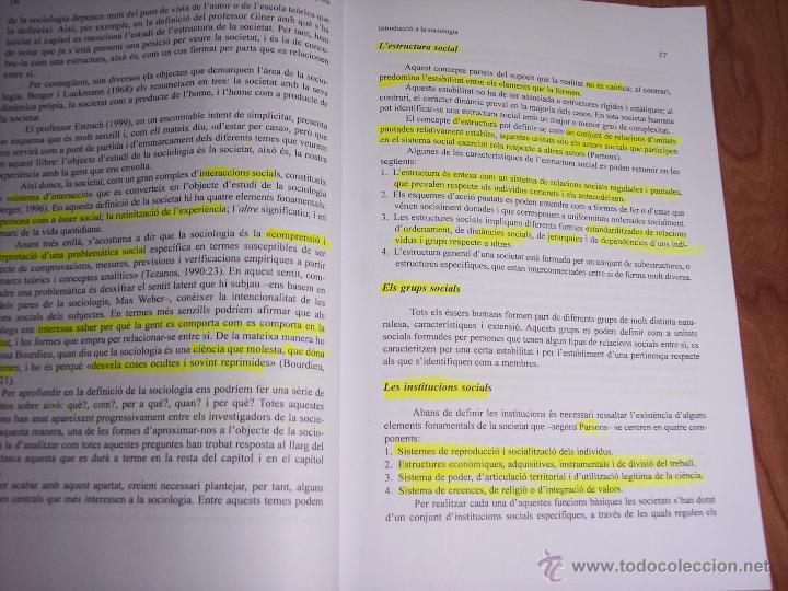 Libros de segunda mano: SOCIOLOGIA DE LEMPRESA (MÀRIUS DOMÍNGUEZ/SALVADOR CARRASCO/+6) - UNIVERSITAT DE BARCELONA (CATALÁN) - Foto 4 - 54991858