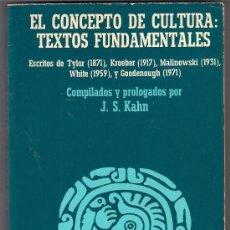 Libros de segunda mano: EL CONCEPTO DE CULTURA. TEXTOS FUNDAMENTALES. MALINOVSKI Y OTROS AUTORES. Lote 55792544