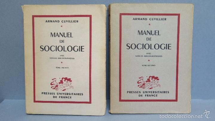 MANUEL DE SOCIOLOGIE. ARMAND CUVILLIER. 2 TOMOS (Libros de Segunda Mano - Pensamiento - Sociología)