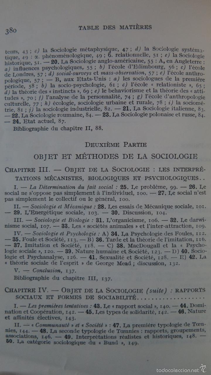 Libros de segunda mano: MANUEL DE SOCIOLOGIE. ARMAND CUVILLIER. 2 TOMOS - Foto 3 - 56147807