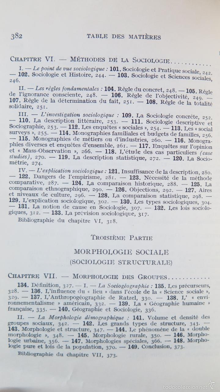 Libros de segunda mano: MANUEL DE SOCIOLOGIE. ARMAND CUVILLIER. 2 TOMOS - Foto 5 - 56147807