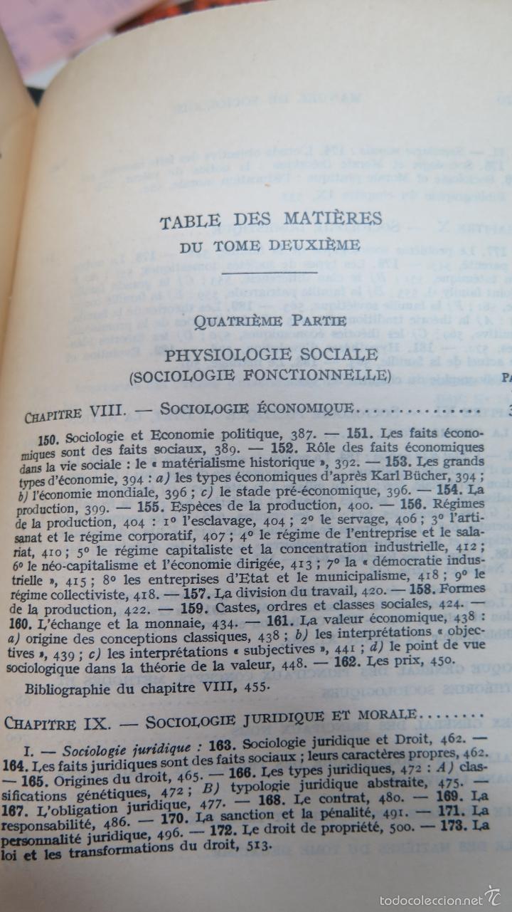 Libros de segunda mano: MANUEL DE SOCIOLOGIE. ARMAND CUVILLIER. 2 TOMOS - Foto 7 - 56147807