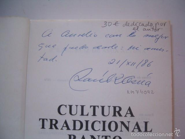 Libros de segunda mano: P, RAUL RUIZ DE ASÚA ALTUNA. Cultura Tradicional Banto. RM74092. - Foto 2 - 56179212