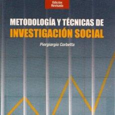 Second hand books - Metodología y técnicas de investigación social / Piergiorgio Corbetta ( edición revisada, 2007) - 112334114