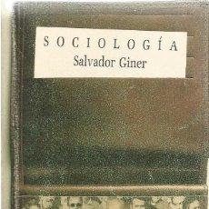 Libros de segunda mano: SALVADOR GINER. SOCIOLOGIA. PENINSULA. Lote 57185456