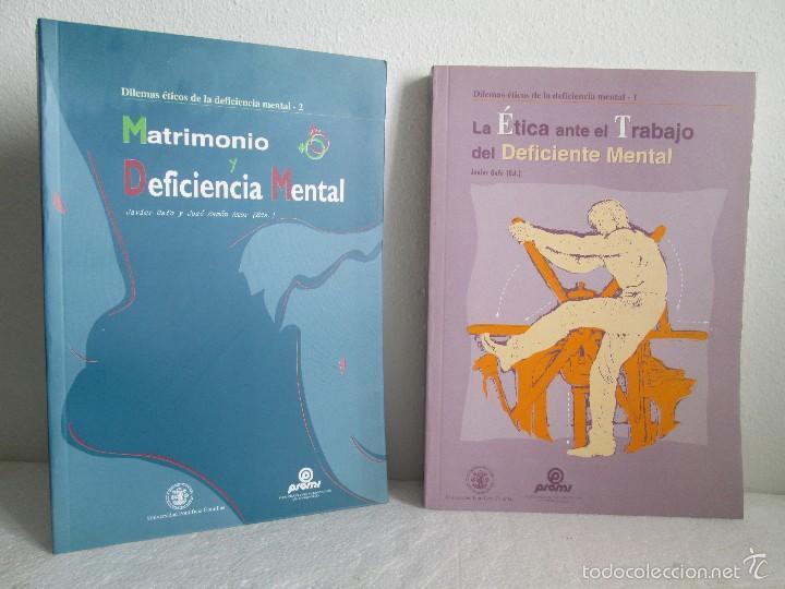 LA ETICA ANTE EL TRABAJO DEL DEFICIENTE MENTAL. MATRIMONIO Y DEFICIENCIA MENTAL. 2 LIBROS (Libros de Segunda Mano - Pensamiento - Sociología)