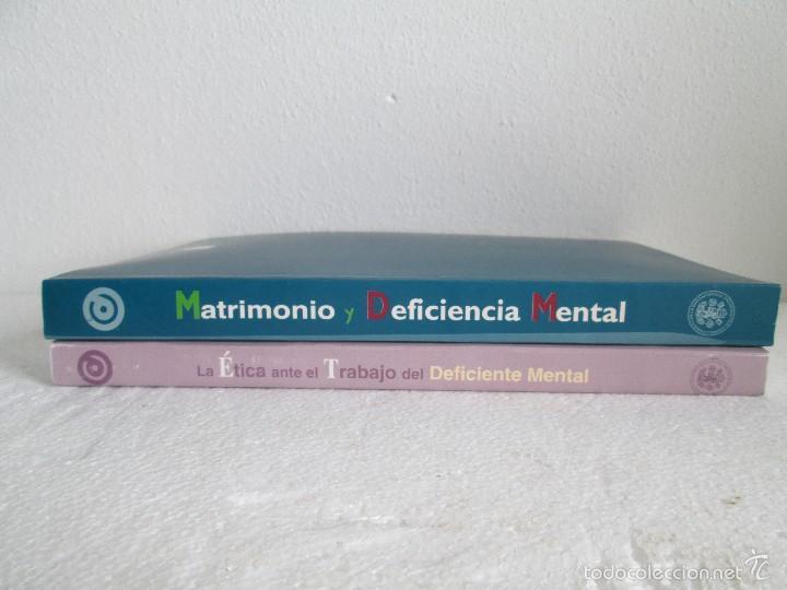 Libros de segunda mano: LA ETICA ANTE EL TRABAJO DEL DEFICIENTE MENTAL. MATRIMONIO Y DEFICIENCIA MENTAL. 2 LIBROS - Foto 2 - 57256113