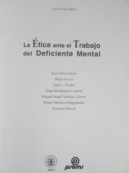 Libros de segunda mano: LA ETICA ANTE EL TRABAJO DEL DEFICIENTE MENTAL. MATRIMONIO Y DEFICIENCIA MENTAL. 2 LIBROS - Foto 7 - 57256113