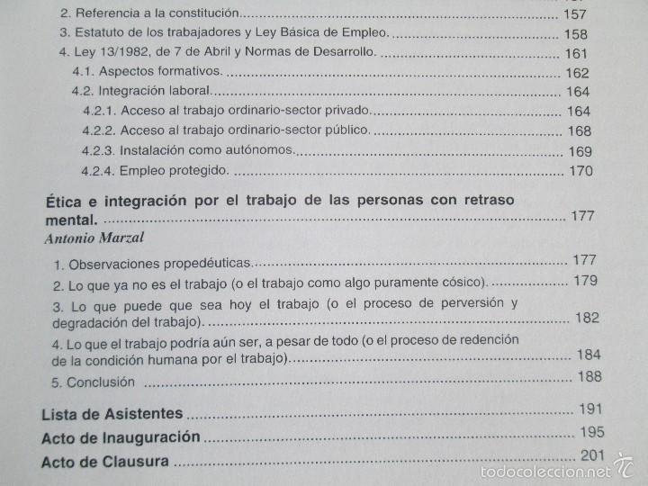 Libros de segunda mano: LA ETICA ANTE EL TRABAJO DEL DEFICIENTE MENTAL. MATRIMONIO Y DEFICIENCIA MENTAL. 2 LIBROS - Foto 14 - 57256113