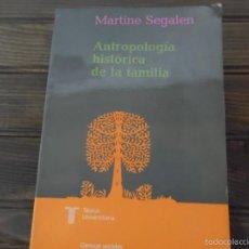 Libros de segunda mano: ANTROPOLOGÍA HISTÓRICA DE LA FAMILIA. Lote 57471479
