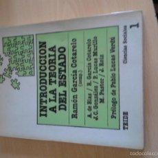 Libros de segunda mano: INTRODUCCION A LA TEORIA DEL ESTADO. Lote 57548963