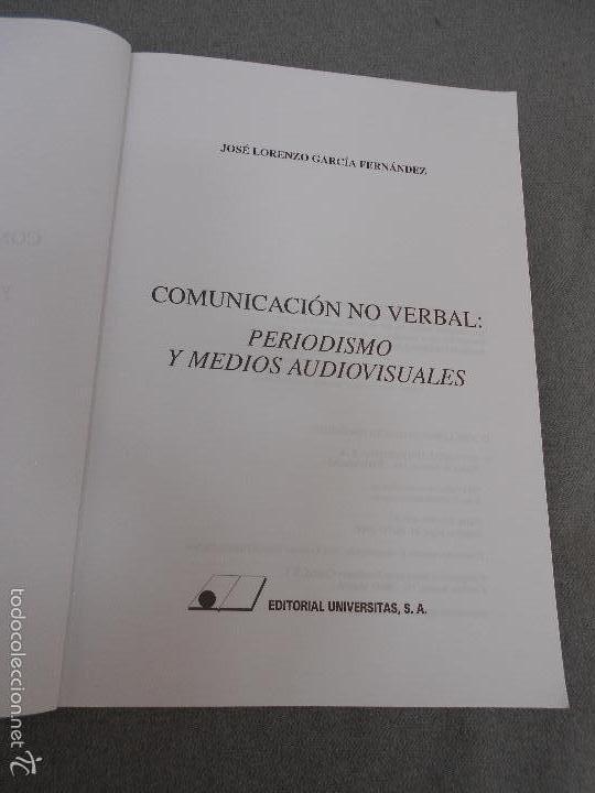 Libros de segunda mano: COMUNICACION NO VERBAL, PERIODISMO Y MEDIOS AUDIOVISUALES - Foto 2 - 57755605