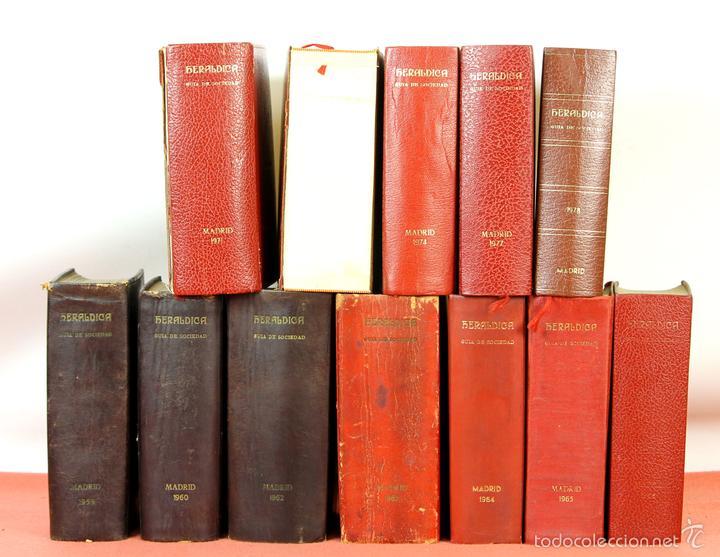 7794 - HERALDICA GUÍA DE SOCIEDAD. 12 VOLUM(VER DESCRIP). TALL. J. TORROBA. 1959/1978. (Libros de Segunda Mano - Pensamiento - Sociología)