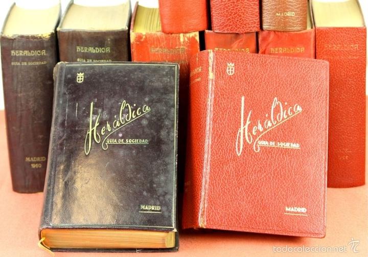 Libros de segunda mano: 7794 - HERALDICA GUÍA DE SOCIEDAD. 12 VOLUM(VER DESCRIP). TALL. J. TORROBA. 1959/1978. - Foto 2 - 58064716