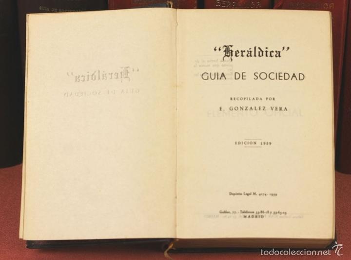 Libros de segunda mano: 7794 - HERALDICA GUÍA DE SOCIEDAD. 12 VOLUM(VER DESCRIP). TALL. J. TORROBA. 1959/1978. - Foto 3 - 58064716